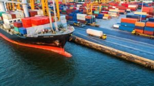Ship, Engineering at Sea, Harbor, Containers and Logistics